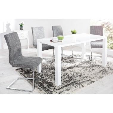 HAMPTON Krzesło do jadalni ze skóry syntetycznej szare/ 35555
