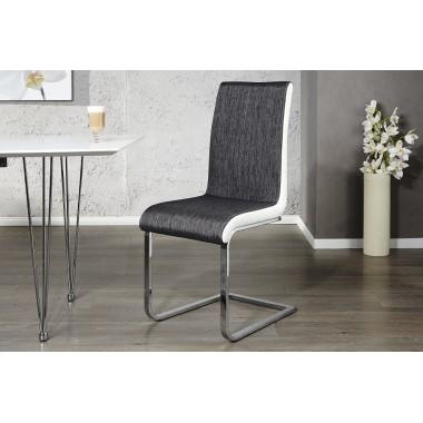 METROPOLIS II krzesło do jadalni antracyt biały / 20111
