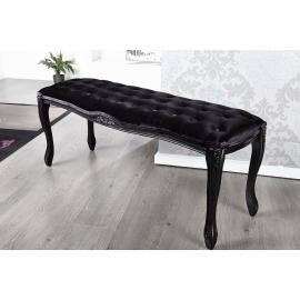 BOUTIQUE ława do siedzenia antyczny styl 115cm czarny / 22759