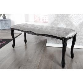 BOUTIQUE ława do siedzenia antyczny styl 115cm srebrno szara / 222761