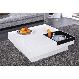 CUEBASE Stolik kawowy 80 cm biały / 38190