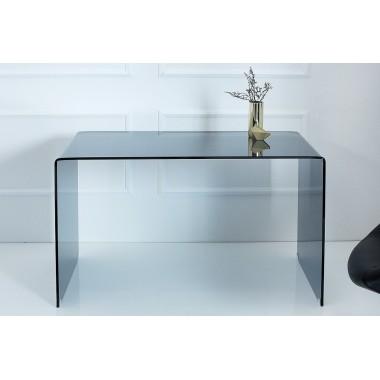 Biurko FANTOME ze szkła antracytowego 120 cm / 38176