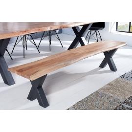 MAMMUT X Ława do stołu do jadalni 160cm akacia 35mm/ 38353