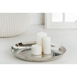 Talerz dekoracyjny ORIENT 40cm srebrny / 38028