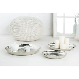 Zestaw ozdobnych talerzy ORIENT 3 srebrne / 38025