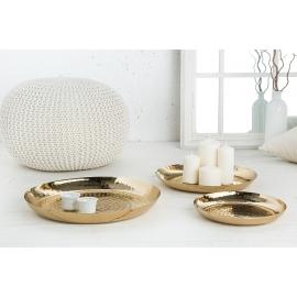 Zestaw ozdobnych talerzy ORIENT 3 złote / 38024