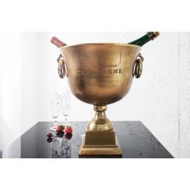 Chłodziarka do szampana 40cm złota / 37607