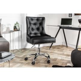 Fotel / krzesło biurowe VICTORIAN czarny podłokietnik / 39346
