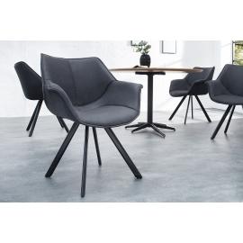 Krzesło THE DUTCH RETRO antyczny szary / 37612