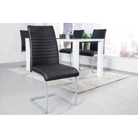 APPARTMENT Krzesło szare chromowane / 39379