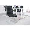 APPARTMENT Krzesło czarne chromowane / 39380
