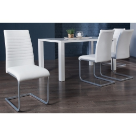 APPARTMENT Krzesło białe chromowane / 39381