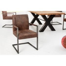 BIG ASTON Krzesło vintage brązowy Arml./ 37315