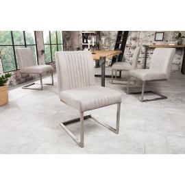 BIG ASTON Krzesło stonowany szary / 38104