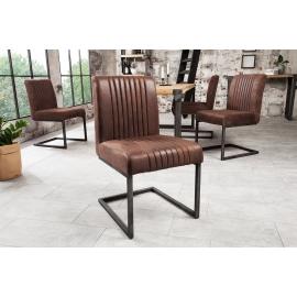 BIG ASTON Krzesło vintage brazowy / 38105