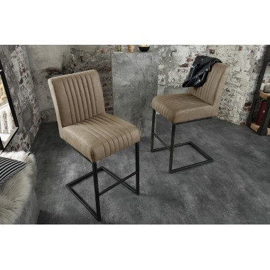 BIG ASTON Krzesło barowe / Hoker taupe / 39056