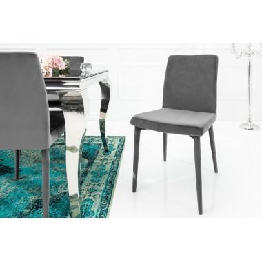 MILANO Krzesło szary aksamit / 38849