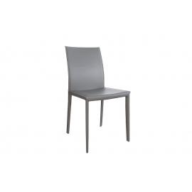 MILANO Krzesło szare skóra / 37153