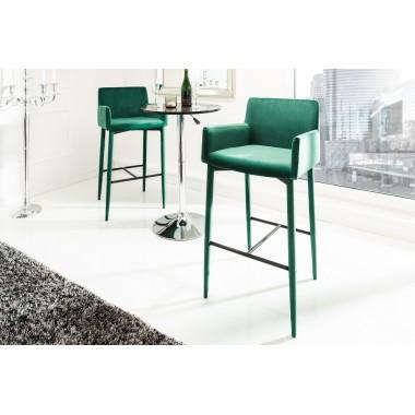 MILANO Krzesło barowe / Hoker szmaragdowo zielony / 39418