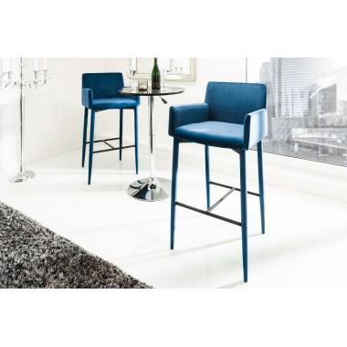 MILANO Krzesło barowe / Hoker królewski niebieski / 39419owe / Hoker szmaragdowo zielony / 39418