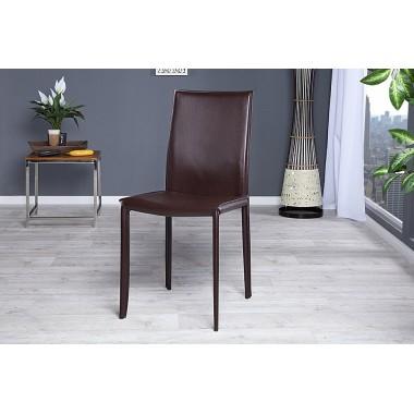 MILANO Krzesło coffee skóra / 11564