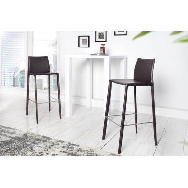 MILANO Krzesło barowe / Hoker coffe skóra / 35617
