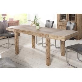 PURE Stół do jadalni 160-240cm akacja szary teak / 36424