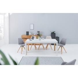 CONTINENTAL Stół do jadalni 180-420cm biały dąb / 38146