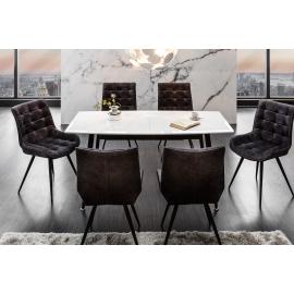CONTINENTAL Stół do jadalni rozkładany 160-200-240cm biały / 39760