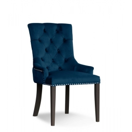 Krzesło AUGUST morski/ noga biała/ BL85