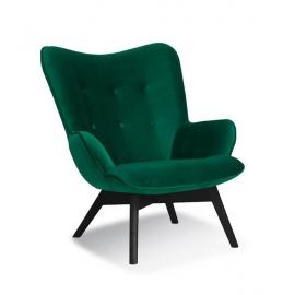 Fotel ANGEL zielony/ noga czarna/ KR19