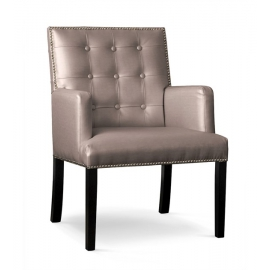 Fotel MARCELO brązowy/ noga czarna/ SA03