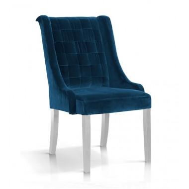 Krzesło Prince velvet granat/ noga biała/ BL86