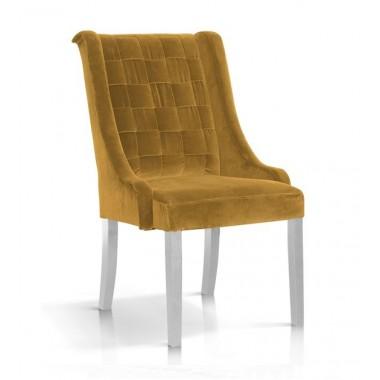 Krzesło Prince velvet miodowy/ noga biała/ BL68