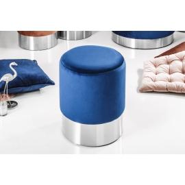 MODERN BAROCK Pufa 35cm niebieski SREBRNY / 39605