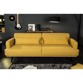 STUDIO Sofa 214cm z funkcją spania kolor musztardowy żółty / 39466