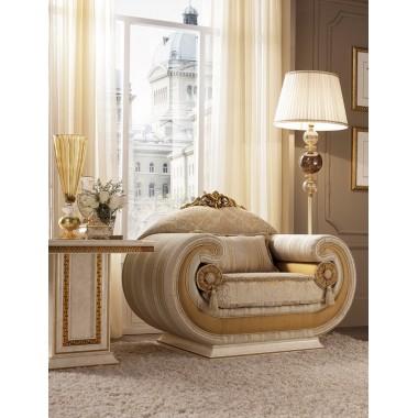 LEONARDO Fotel z poduszkami cylindrycznymi 114cm Living Room / ACLF