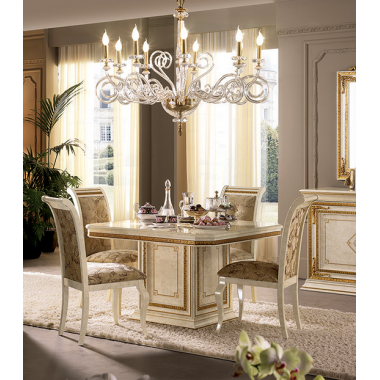 LEONARDO Stół do jadalni 120cm x 120cm Dining Room / ACLSDJR120