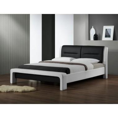 ŁOŻE CASSANDRA 160cm biało-czarne / MIT