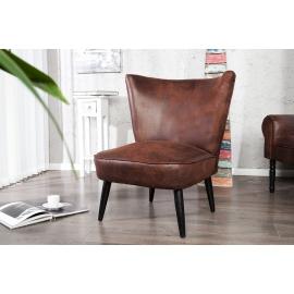 Fotel RETRO aksamitna tkanina kolor benzyna / 35020