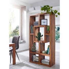 WOHNLING Design Regał MUMBAI Sheesham 180cm z litego drewna / SKYG