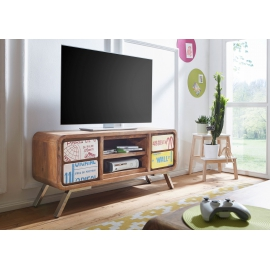 WOHNLING AIKA Stolik / Szafka z litego drewna TV 130 cm / SKYG