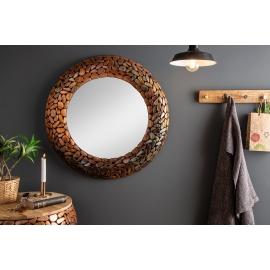 Lustro okrągłe Mosaic 82cm copper / 38743