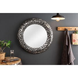 Lustro okrągłe Mosaic 82cm silber/ 38724