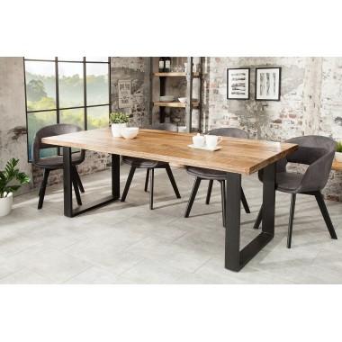 Stół do jadalni IRON CRAFT 180 cm naturalny Mango / 38658