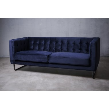 """Sofa 3-sobowa Meno 3S w kolorze """"DEEP NAVY"""" 191cm / GILLI"""