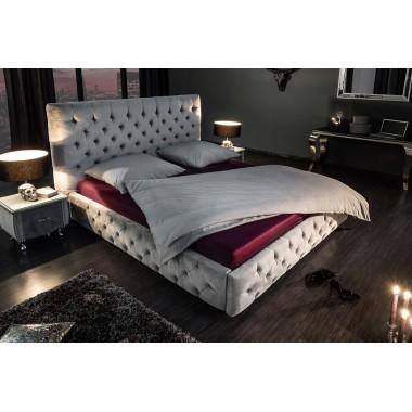 Łóżko PARIS 180cm srebrno szary samt / 39430