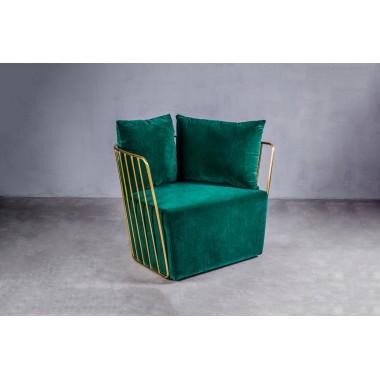 Fotel welurowy LAO 1S Marine Green ciemnozielony 72cm / GILLI