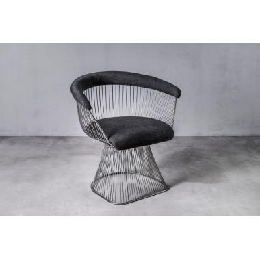 Fotel welurowy PRASLIN All Black czarny 53cm / GILLI