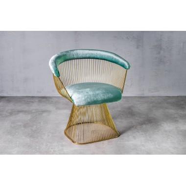 Fotel aksamitny PRASLIN Willow-green jasnozielony 53cm / GILLI